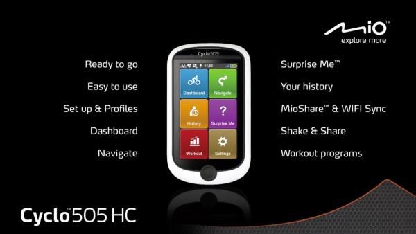 Mio Cyclo 505 HC Gebruikersdemo